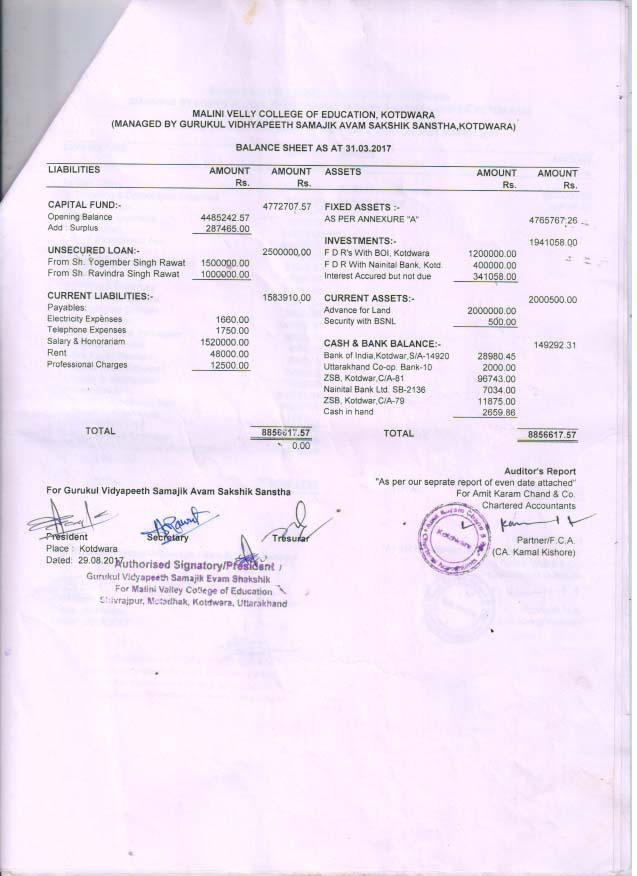 balance sheet 17 1