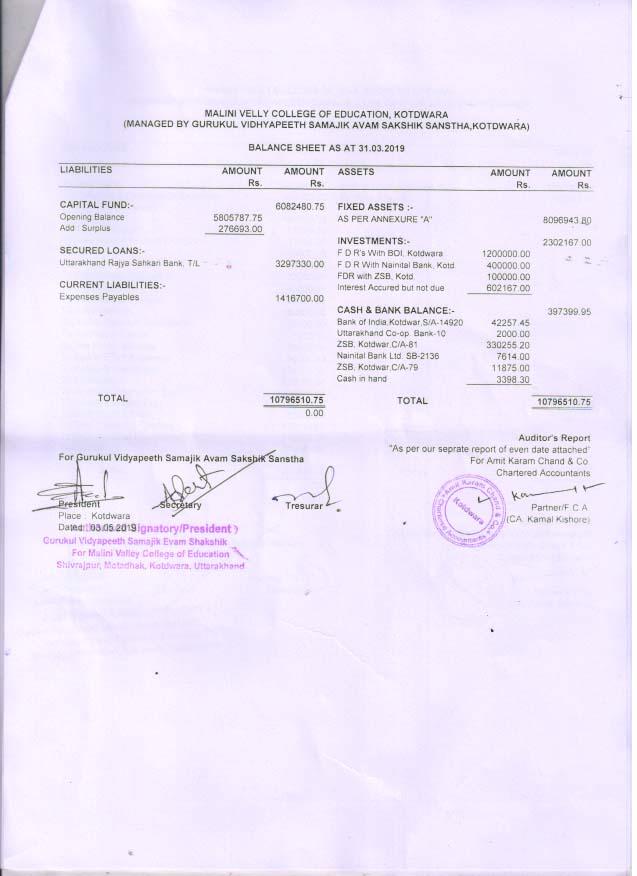 balance sheet 19 1